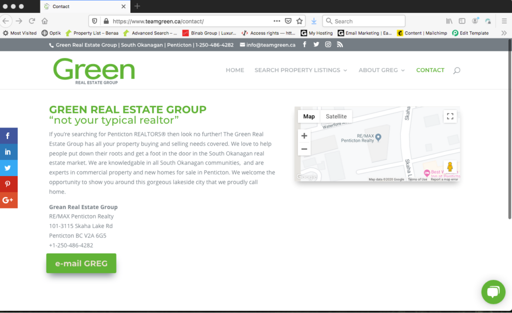 teamgreen contact page