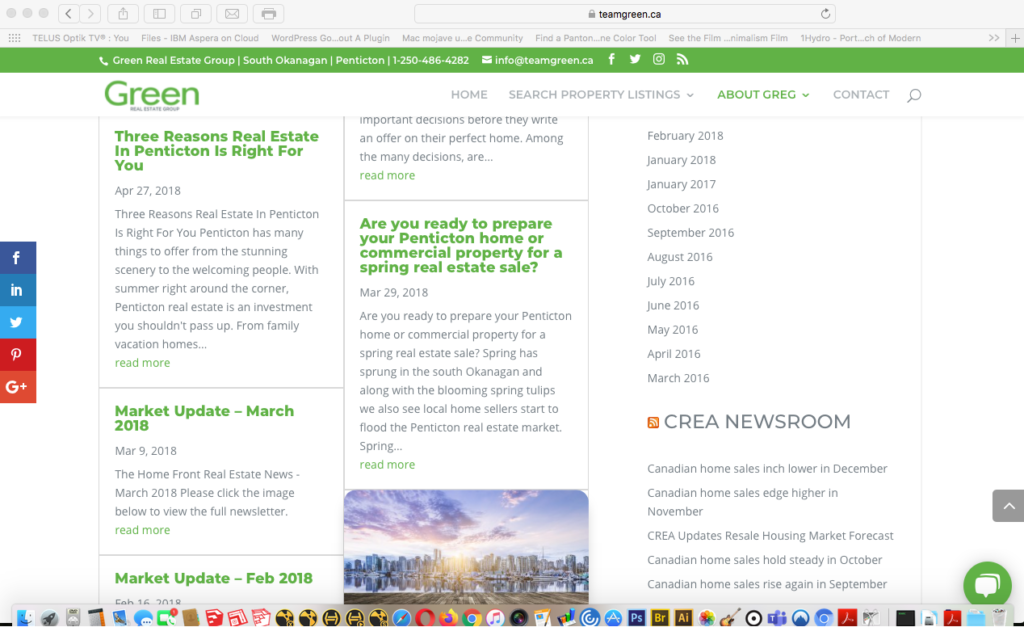 teamgreen blog and RSS feeds page